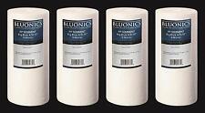 "BLUONICS Big Blue Sediment Water Filters 4pcs 4.5"" x 10"" Replacement Cartridges"
