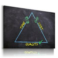 PAINTING DRAWING TRIANGLE SCHOOL KIDS  PRINT Canvas Wall Art R184 UNFRAMED