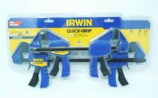 "Irwin 4 Pieces Quick-Grip One-Handed Bar Clamps Set 6"" and 12"" Woodworking Hobby"