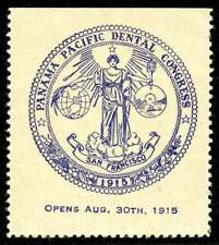 USA Poster Stamp - 1915 PPIE San Francisco -  Dental Congress
