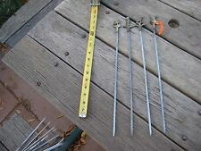"Vintage 16"" Length Shish Kabob BBQ Grill Skewers Brass Handle Set of 4 TURKEY"