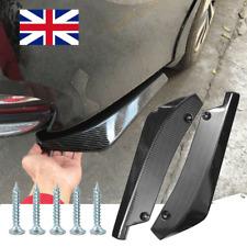 2x Car Carbon Fiber Style Rear Bumper Fin Canard Splitter Diffuser Spoiler Lip