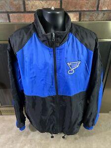 Vintage St. Louis Blues NHL Ice Hockey Reversible Jacket Coat Mens Size Large