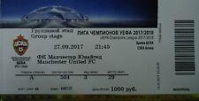 mint TICKET UEFA CL 2017/18 ZSKA Moskau - Manchester United