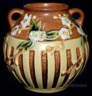 """Roseville Cherry Blossom #627 5"""" Vase - ORIGINAL LABEL"""