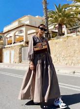 Zara Ruffled Poplin Dress Size Large