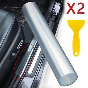15*200cm Vinyl Film Clear Car Door Sill Edge Paint Protection Scratches Film 2X
