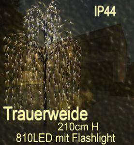 Trauerweide 810 LED mit Flashlight 210cm In&Outdoor Beleuchtung Leuchtbaum