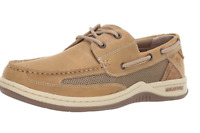 Margaritaville Men's Leather Casual Light Tan Brown Comfort Boat Shoes Sz 9.5
