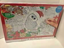 EuroGraphics Holly Jolly Owl Color Me Puzzle (300 Pieces)-  BRAND NEW- SEALED