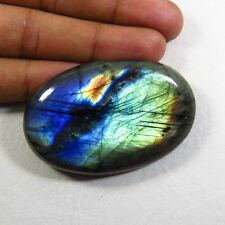 162 Cts. ANTIQUE! NATURAL BLUE FLASH LABRADORITE CABOCHON OVAL GEMSTONE LBD-876