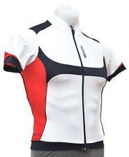Santini Heat Sink System Short Sleeve Cycling Jersey Men SMALL White Road Bike