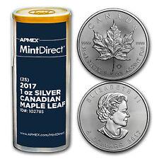 2017 Canada 1 oz Silver Maple Leaf (25-Coin MintDirect® Tube) - SKU #102785