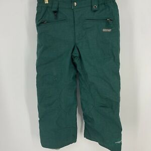 686 Pants Youth Medium Smarty Insulated Snowboard Embroidered Dragonfly Green