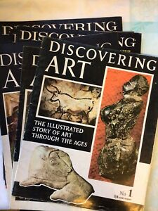 6x Discovering Art Magazine , Includes Scarce First Issue , Vintage