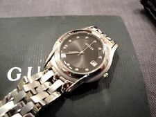 Gucci Black Faced Diamond Watch Men's Stainless from 1994 in Great Shape!