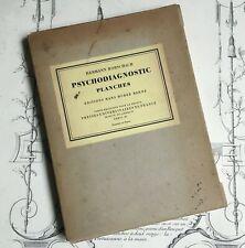 Test Psychodiagnostic Of Hermann Rorschach 10 Planches Psychiatry Medicine 1921