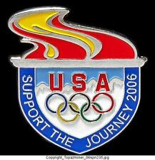OLYMPIC PINS 2006 TORINO TURIN ITALY TEAM USA TORCH NOC