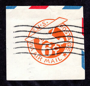 US # UC4 (1942) 6c, Used, Airmail, EFO: Offset on Back (Neat)