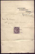 1900 SCHOOL of MUSIC, 137 Princes St, EDINBURGH account for Violin lessons