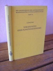 Dr Alexander Dinghas : Vorlesungen über funktionentheorie Springer 1961