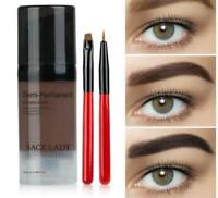 Eye Brow Dye Paint Waterproof Gel Make Up Pomade Black Eyebrow Stamp