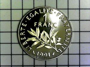 1 franc Semeuse 1991 nickel BE (Belle Épreuve) Pessac F.226/36 var. - FDC