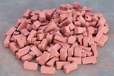 Dollhouse Miniature Red Colored Corner Bricks -- 1:12 Scale -- 125 per Bag