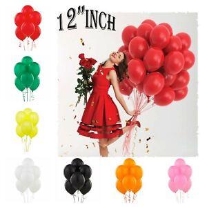 "Plain Helium Quality BALLOONS 12""inch BALONS BALLONS Birthday Wedding Decoration"