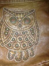 Unique Handmade Genuine Leather Owl Funky Super Cool Retro 1970s Vintage