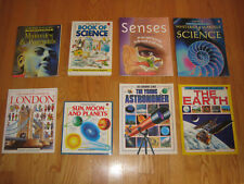 Lot of 8 The USBORNE Internet-Linked Library Books ~ Science, Space, History