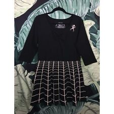 Kreepsville 666 Black & White Spiderweb Skull Goth Rockabilly Skater Dress 3XL