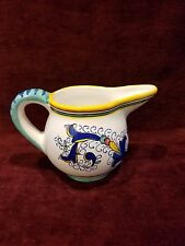 Deruta Italy Pitcher Italian Pottery Hand Painted VG