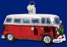 CAMPER VAN OLD WORLD CHRISTMAS HIPPIE VOLKSWAGEN VW BUS TYPE ORNAMENT NWT 46042