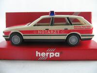 """Herpa 043359 BMW 525i Touring (1991) """"DRK KV Saarlouis/NOTARZT"""" 1:87/H0 NEU/OVP"""