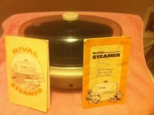 VINTAGE RIVAL STEAMER--MODEL 4450  --THE STEAMER--RECIPE BOOK--FREE SHIP--VGC