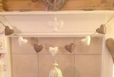 Handmade Fabric Shabby Chic Love Heart Garland Bunting