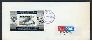 NICARAGUA SPACE FDC: MICHEL Block #131Ba ZEPPELIN APOLLO LUNOHOD IMPERF (S) $$$