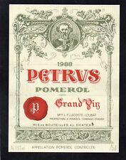POMEROL 1ER GCC VIEILLE ETIQUETTE CHATEAU PETRUS 1988 75 CL  §26/01/18§