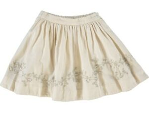 Stunning Designer 🍒 Bonpoint Ivory Party Skirt Gold Embroidered 12yr RRP €195
