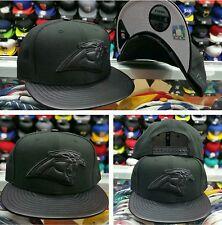 Exclusive New Era NFL Carolina Panther 9Fifty snapback Hat Black Leather