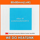 Only 2pcs 3M 8810 80x80mm LED Thermal Adhesive Blue Cooling Tape Pad