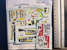 LOT 4 DECALS 1/43  FORD / PEUGEOT WRC - VALENTINO ROSSI - JFD007