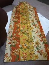 Vintage Custom Made Curtains Drapes  Pleated Lined Long Floral Retro MCM