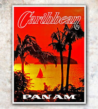"""Vintage Travel Poster Caribbean 12x16"""" Rare Hot New A22"""