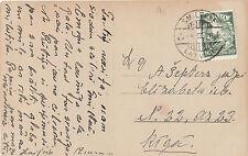 Stamp 1938 Latvia 10s definitive on postcard sent locally SMILTENE to RIGA