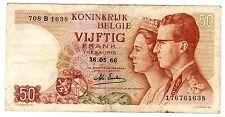 Belgique Belgium Billet 50 Francs 1966 P139 ROI & REINE BON ETAT