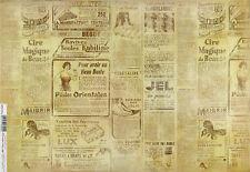 Carta DI RISO PER DECOUPAGE SCRAPBOOKING Foglio Giornale Craft