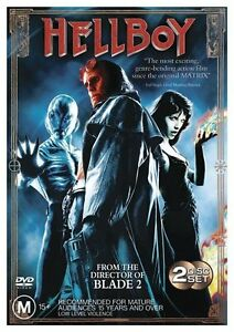 Hellboy (DVD Region 4) 2 Disc Set - Selma Blair, John Hurt, Ron Perlman
