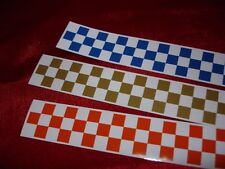 25mm x 1200mm CHECKERED TAPE CHEQUERED CHEQUER DECAL STICKER GRID LEMANS LE MANS